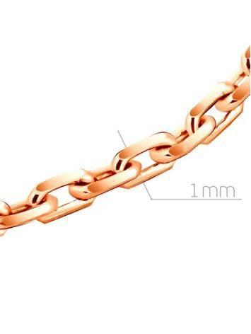 Тонкая нежная цепь «Якорная» из позолоченного серебра 55 см, Длина: 55, фото , изображение 2