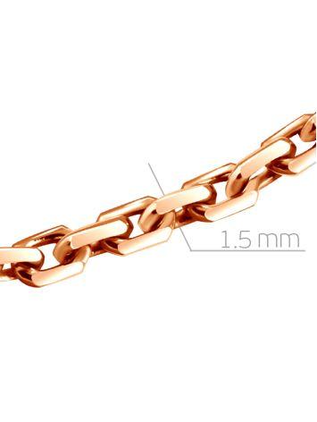 Позолоченная серебряная цепь, плетение «Якорное», Длина: 55, фото , изображение 2