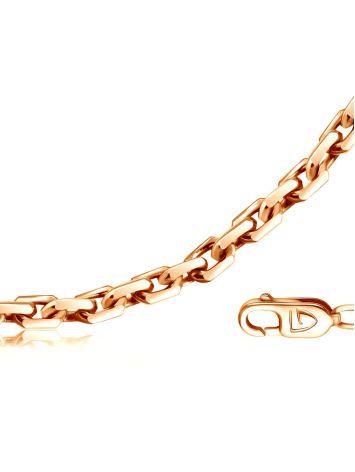 Позолоченная серебряная цепь, плетение «Якорное», Длина: 55, фото