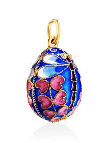 Яйцо-шарм с разноцветной эмалью и изображением стрекозы Romanov, фото , изображение 3