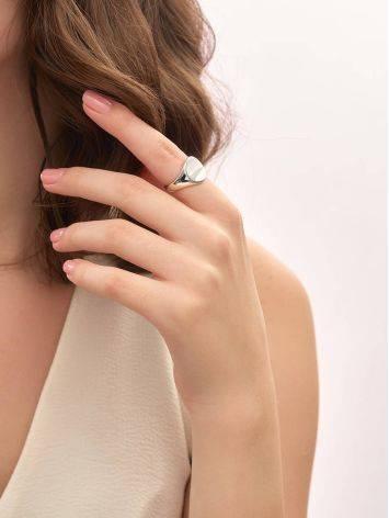 Стильный перстень-печатка из серебра Liquid, Размер кольца: б/р, фото , изображение 4