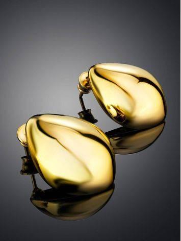 Яркие серьги из позолоченного серебра Liquid, фото , изображение 2