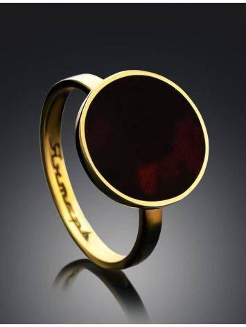 Яркое и стильное кольцо «Монако» Янтарь® с янтарём вишнёвого цвета, Размер кольца: 16, фото , изображение 2