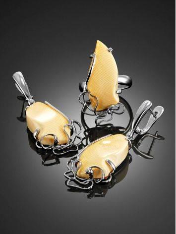 Изящные серьги из серебра и бивня мамонта «Эра», фото , изображение 4