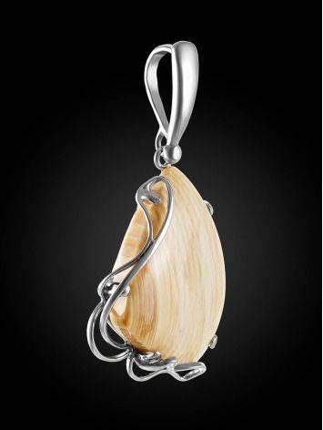 Женственный кулон «Эра» из серебра и бивня мамонта, фото , изображение 2