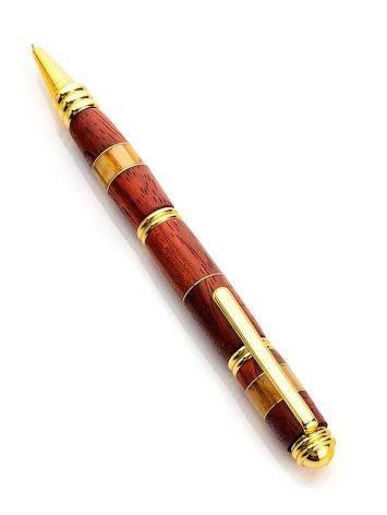 Ручка авторской работы из древесины падука и натурального янтаря, фото , изображение 6