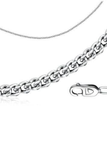 Серебряная цепочка «Панцирная» 45 см, Длина: 45, фото