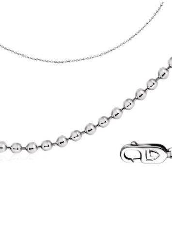 Тонкая цепочка из серебра «Перлина» 45, Длина: 45, фото