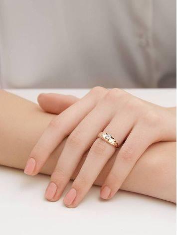 Шикарное золотое кольцо с фианитами, Размер кольца: 16.5, фото , изображение 4