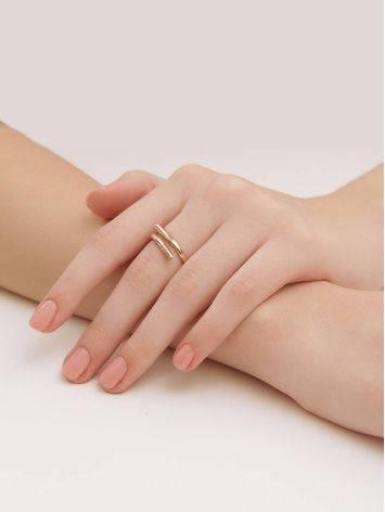 Трендовое незамкнутое золотое кольцо, Размер кольца: 17.5, фото , изображение 4