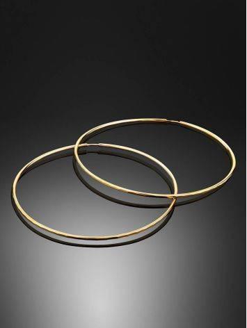 Потрясающие золотые серьги-кольца, фото , изображение 2