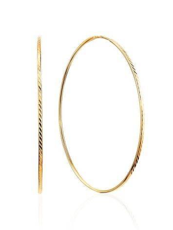 Женственные золотые серьги-кольца, фото