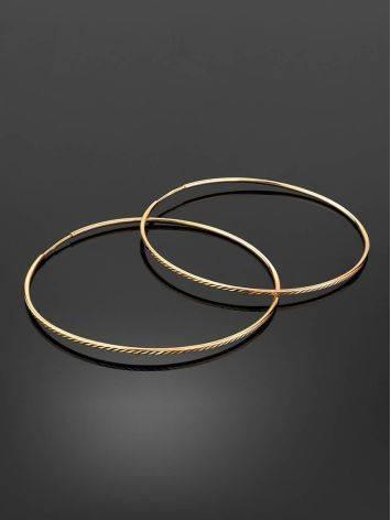 Женственные золотые серьги-кольца, фото , изображение 2