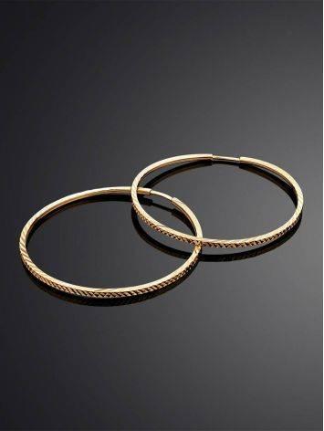 Шикарные золотые серьги-кольца, фото , изображение 2