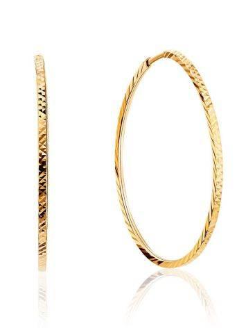 Шикарные золотые серьги-кольца, фото