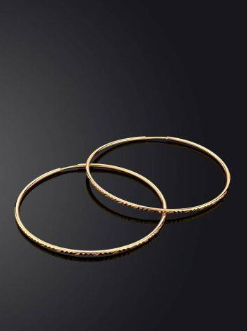 Яркие золотые серьги-кольца, фото , изображение 2