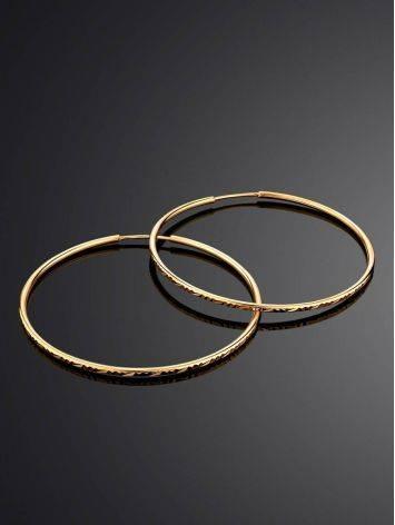 Необычные золотые серьги-кольца, фото , изображение 2