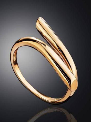 Трендовое незамкнутое золотое кольцо, Размер кольца: 17.5, фото , изображение 2