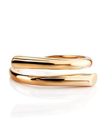 Трендовое незамкнутое золотое кольцо, Размер кольца: 17.5, фото , изображение 3
