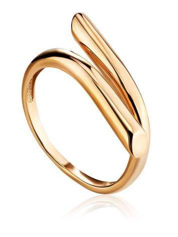 Трендовое незамкнутое золотое кольцо, Размер кольца: 17.5, фото