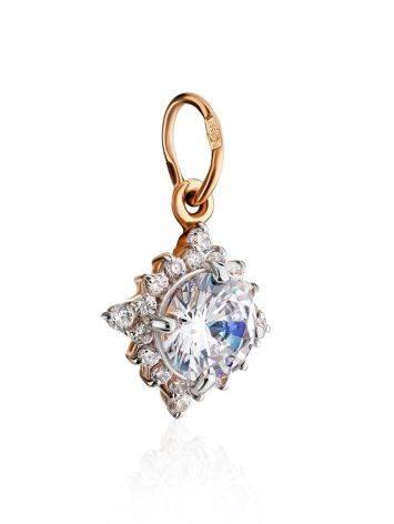 Очаровательная золотая подвеска с яркими кристаллами, фото , изображение 3