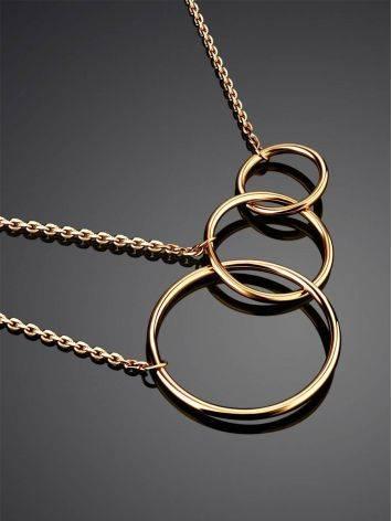 Трендовое золотое колье в геометричном дизайне, фото , изображение 2