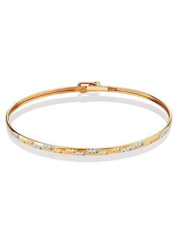 Трендовый золотой браслет-обруч, фото , изображение 3