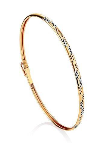 Трендовый золотой браслет-обруч, фото