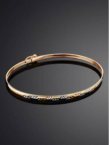 Трендовый золотой браслет-обруч, фото , изображение 2