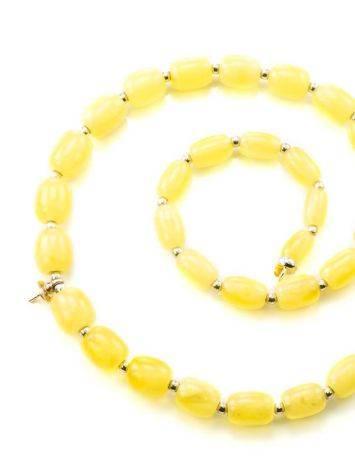 Бусы из натурального балтийского янтаря медового цвета с завеской для создания ожерелья, фото