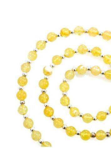 Бусы из янтарных лимонных шаров с завеской для создания ожерелья, фото