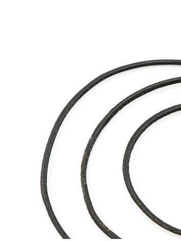 Черный кожаный шнурок для подвесок на застежке-карабине, фото