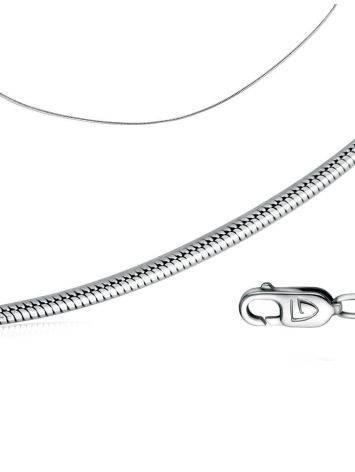 Серебряная цепь 925 пробы «Жгут», Длина: 45, фото