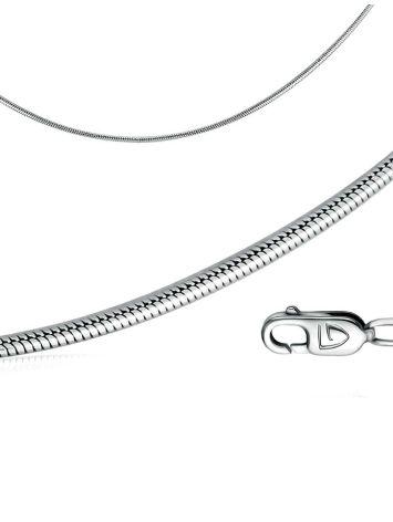 Цепь из серебра, плетение панцирное, Длина: 45, фото