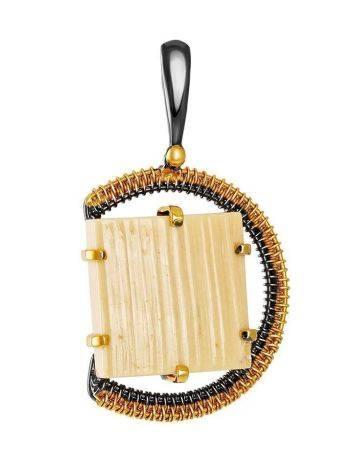 Mammoth tusk gold plated pendant the Era, фото