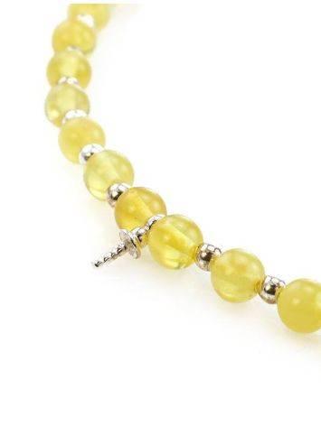 Бусы из янтарных лимонных шаров с завеской для создания ожерелья, фото , изображение 2