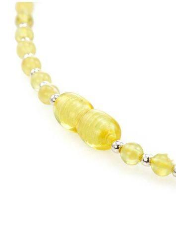 Бусы из янтарных лимонных шаров с завеской для создания ожерелья, фото , изображение 4