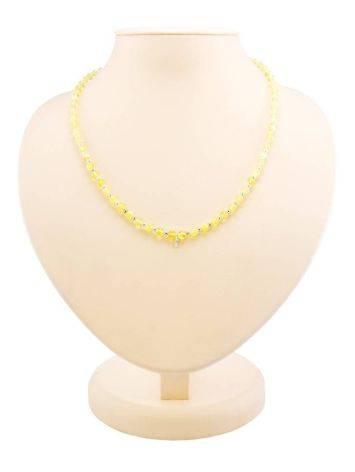 Бусы из янтарных лимонных шаров с завеской для создания ожерелья, фото , изображение 3