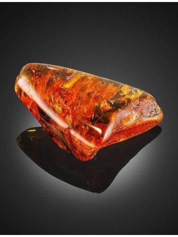 Крупный объёмный кусочек натурального балтийского янтаря с инклюзами 93х72х26 мм, фото , изображение 5