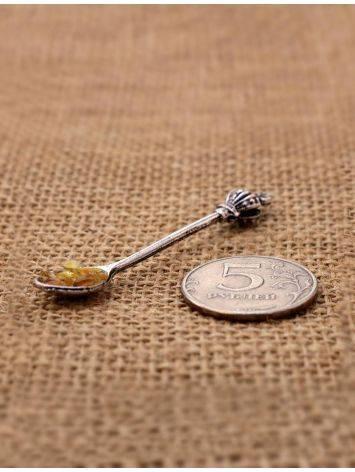 Сувенир-талисман для кошелька с балтийским янтарём «Ложка-загребушка», фото , изображение 3