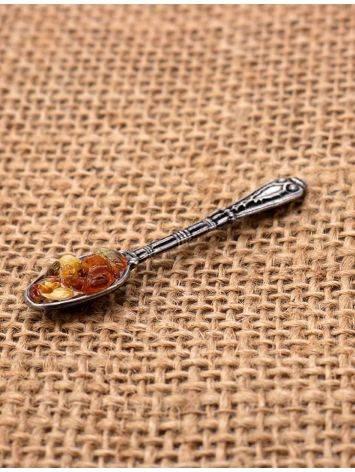 Небольшой сувенир-талисман для кошелька с натуральным балтийским янтарём «Ложка-загребушка», фото , изображение 5