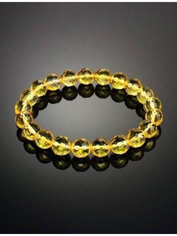 Браслет из натурального янтаря «Карамель алмазная грань», фото , изображение 2