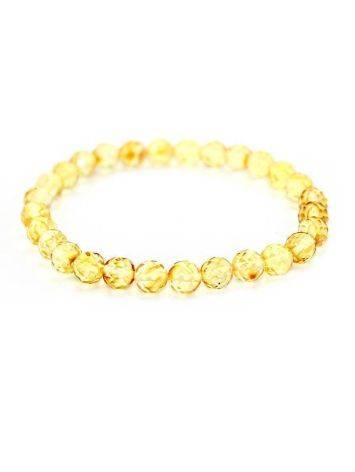 Браслет из натурального янтаря «Карамель алмазная грань», фото
