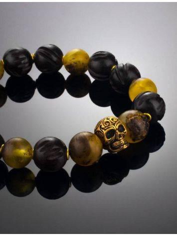 Оригинальный браслет из янтаря и древесины эбена «Куба», фото , изображение 3