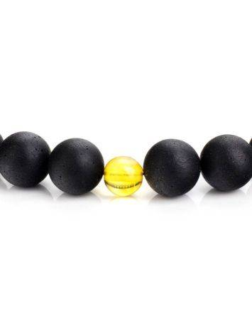 Чётки на 33 бусины-шара из чёрного янтаря из коллекции «Куба», фото , изображение 4