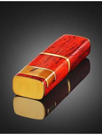 Usb-накопитель «Индонезия» из древесины падука и янтаря, фото , изображение 2