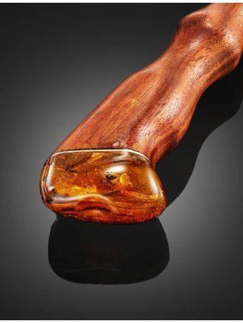 Китайская шпилька для волос с цельным янтарём, фото , изображение 3