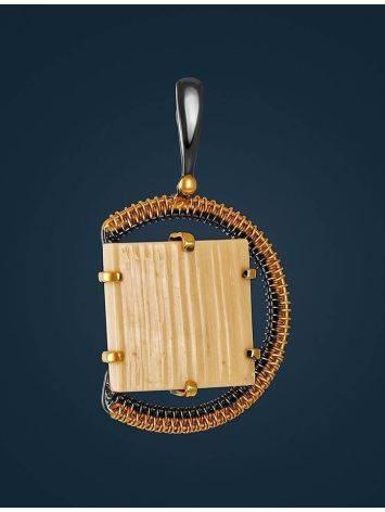 Mammoth tusk gold plated pendant the Era, фото , изображение 2