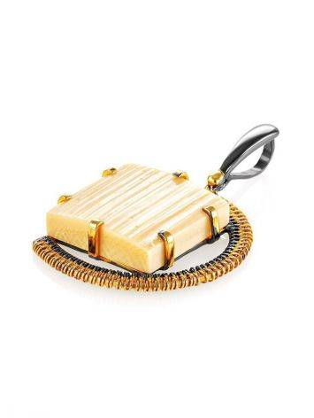Mammoth tusk gold plated pendant the Era, фото , изображение 3