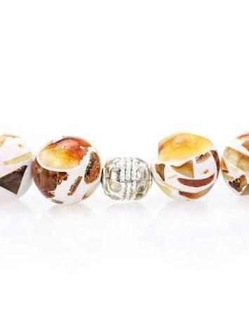Чётки мусульманские на 33 бусины из натурального янтаря «Далматин», фото , изображение 4